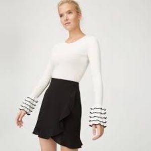 NWT Club Monaco Suzillie Mini Skirt Ruffle Black 2